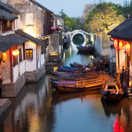 Suzhou-Canal image at night-Primary