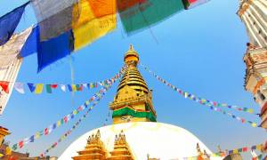 Swayambhunath temple in Kathamandu - Himalayas Trekking Holidays - On The Go Tours