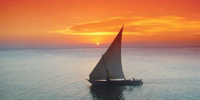 Dhow boat Zanzibar   Tanzania   Africa