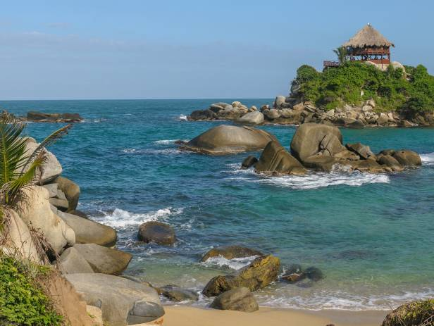 The beautiful coastal scenery of the Tayrona National Park