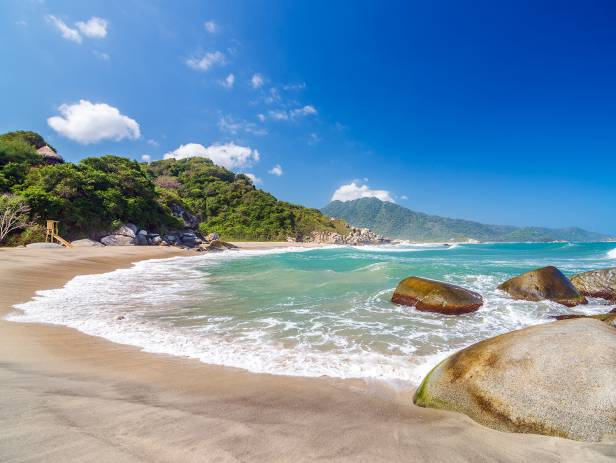 The beautiful coastal scenery of the Tayrona National Park