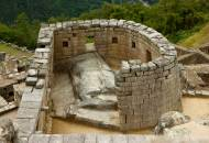 Picture of the semi-circular tower of the Temple of the Sun in Machu Picchu