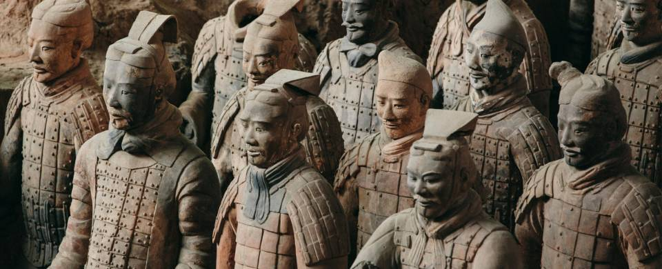 The Terracotta Warriors in battle-ready formation