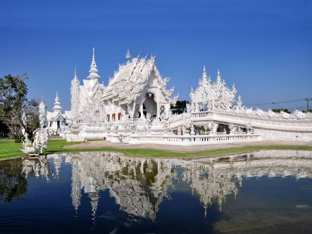 The magnificent and intrictae designed White Temple in Chiang Rai