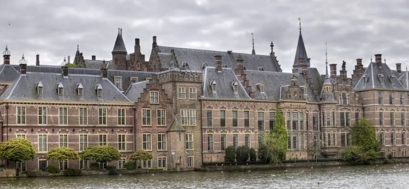 The political centre of the Netherlands, Parliament buildings of the Binnenhof in The Hague, Holland