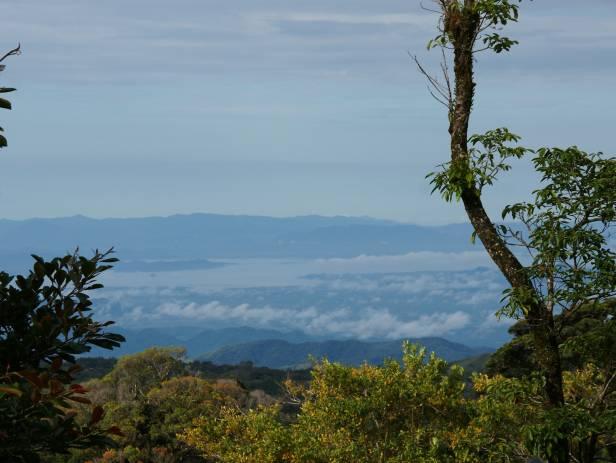 Sun rising over the verdant mountains of Monteverde