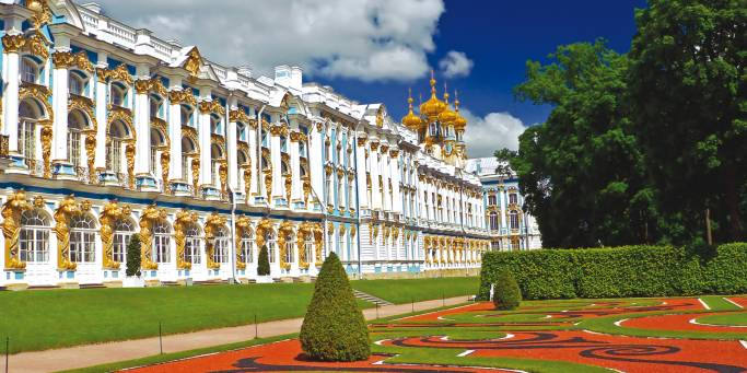 Catherine Palace in St Petersburg, visited on our trips to Russia