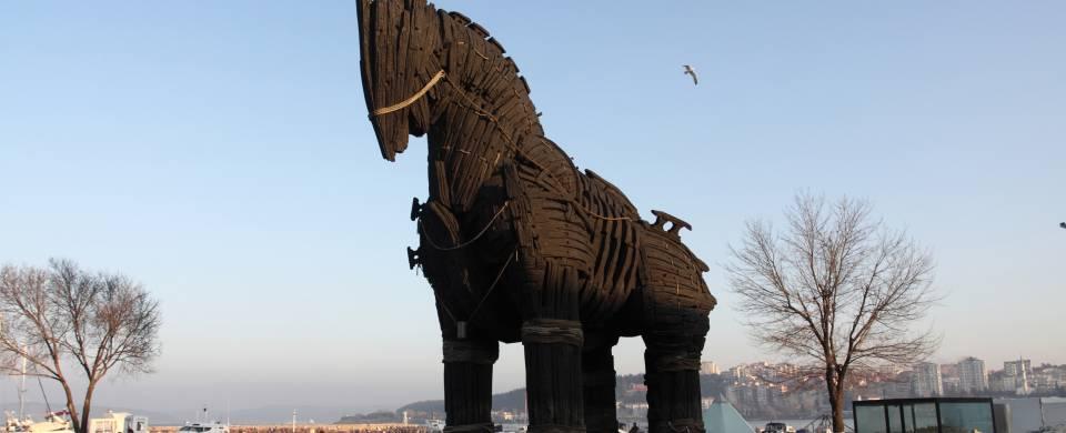 The Trojan Horse from Brad Pitt's blockbuster film Troy