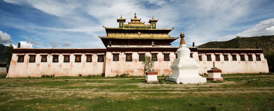 The ancient monastery of Samye near the town of Tsedang in Tibet