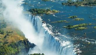 Aerial shot of Victoria Falls | Africa