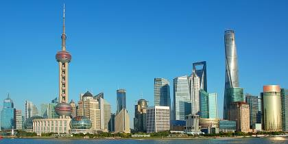View across the river of Shanghai