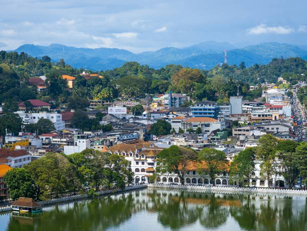 View of Kandy from across the water
