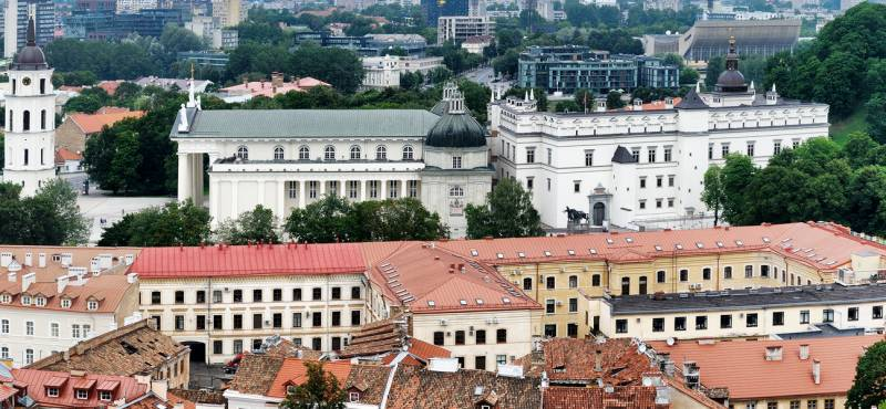 Vilnius's Old Town viewed from above