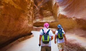Walking down the Siq - Jordan Tours - On The Go Tours