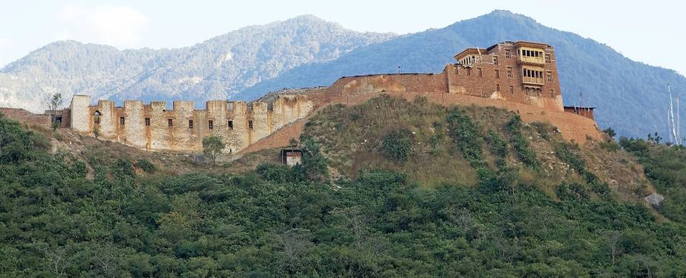 Crumbling ruins in the rugged wilderness of Wangdue