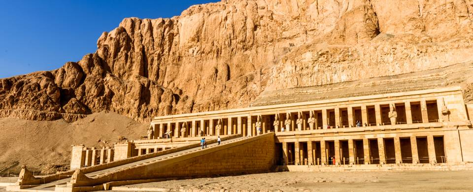Temple of Hatshepsut near the Valley of Kings in Luxor on the West Bank of the Nile