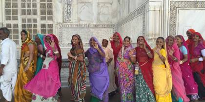 Women in Saris at the Taj