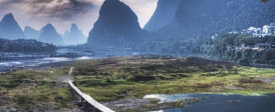 Beautiful mountainous scenery in Yangshuo