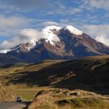 Driving up to one of Ecuador's beautiful volcanoes on a n Ecuador Tour