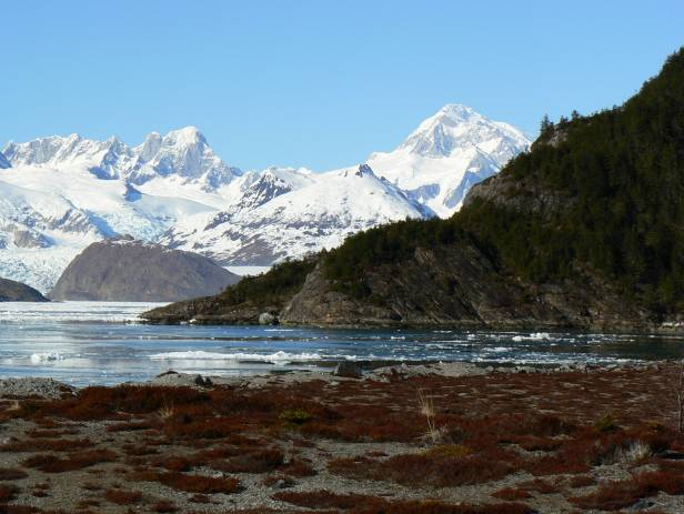 Panoramic view of the mountains that make up the Tierra del Fuego National Park