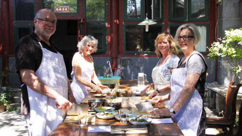 Experience Beijing: Chinese Cooking Class and Market Tour